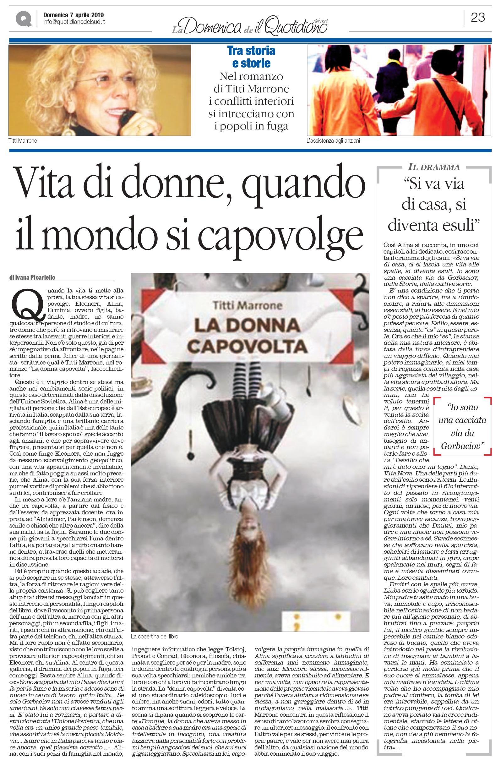 Calendario Titti Bianchi.La Donna Capovolta