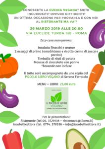 Il Piccolo Libro Vegano&Menu a Roma con l'autrice @ (RM) Ristorante Ma va'? in zona Prati