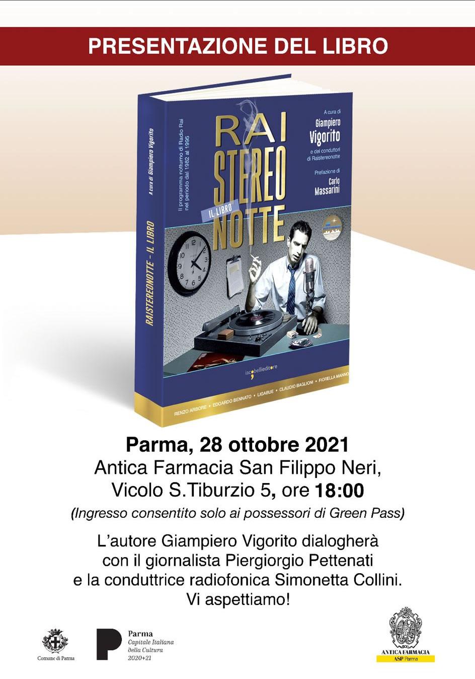 Raistereonotte. Presentazione a Parma @ (PR) Antica Farmacia San Filippo Neri